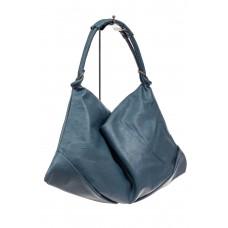 На фото 1 - Большая женская сумка из искусственной кожи, цвет голубой