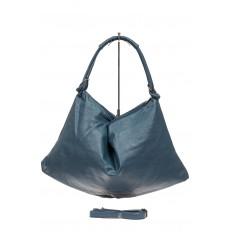 На фото 3 - Большая женская сумка из искусственной кожи, цвет голубой