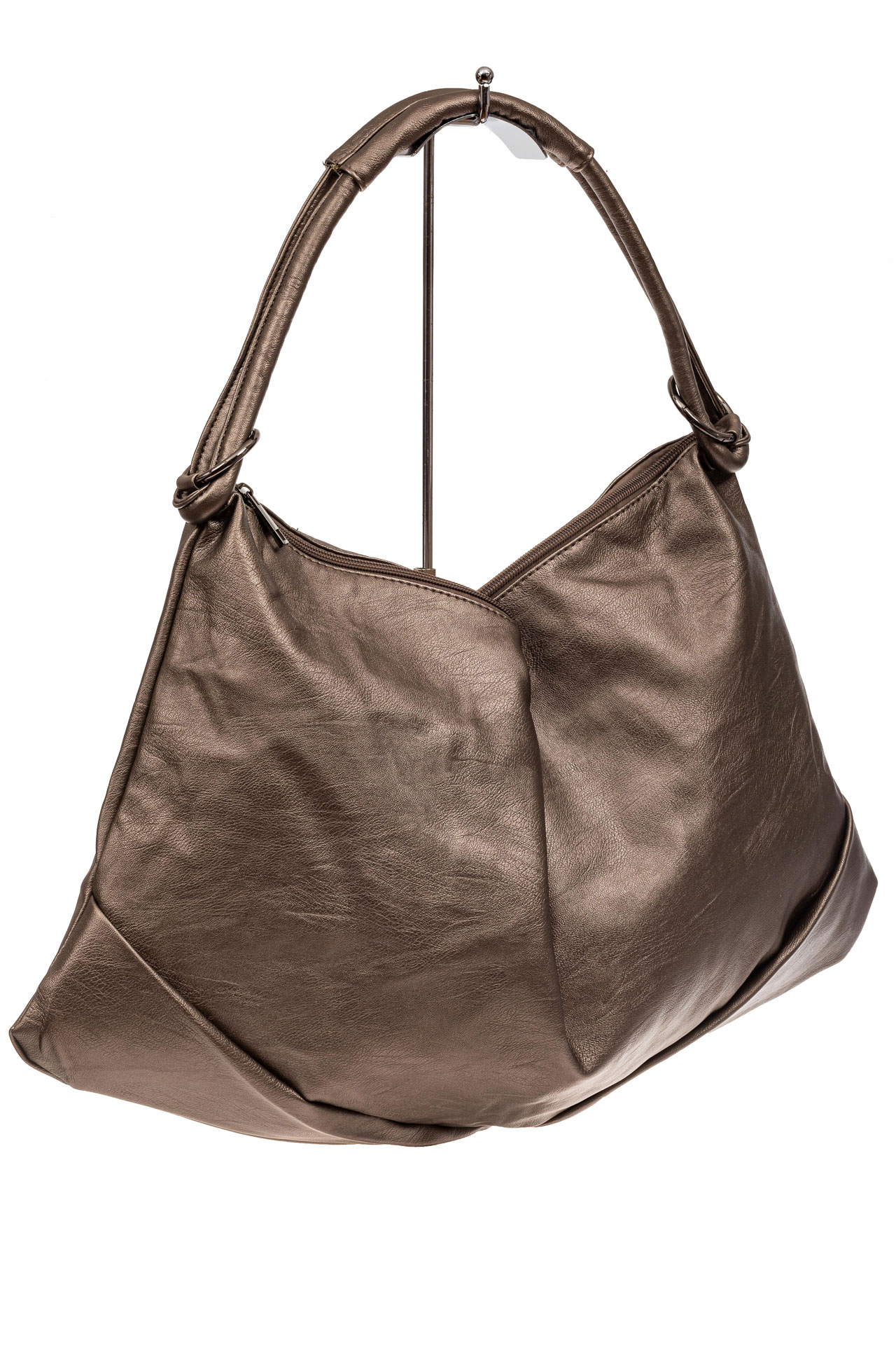 Большая женская сумка из искусственной кожи, цвет бронзаX206PU1019/20