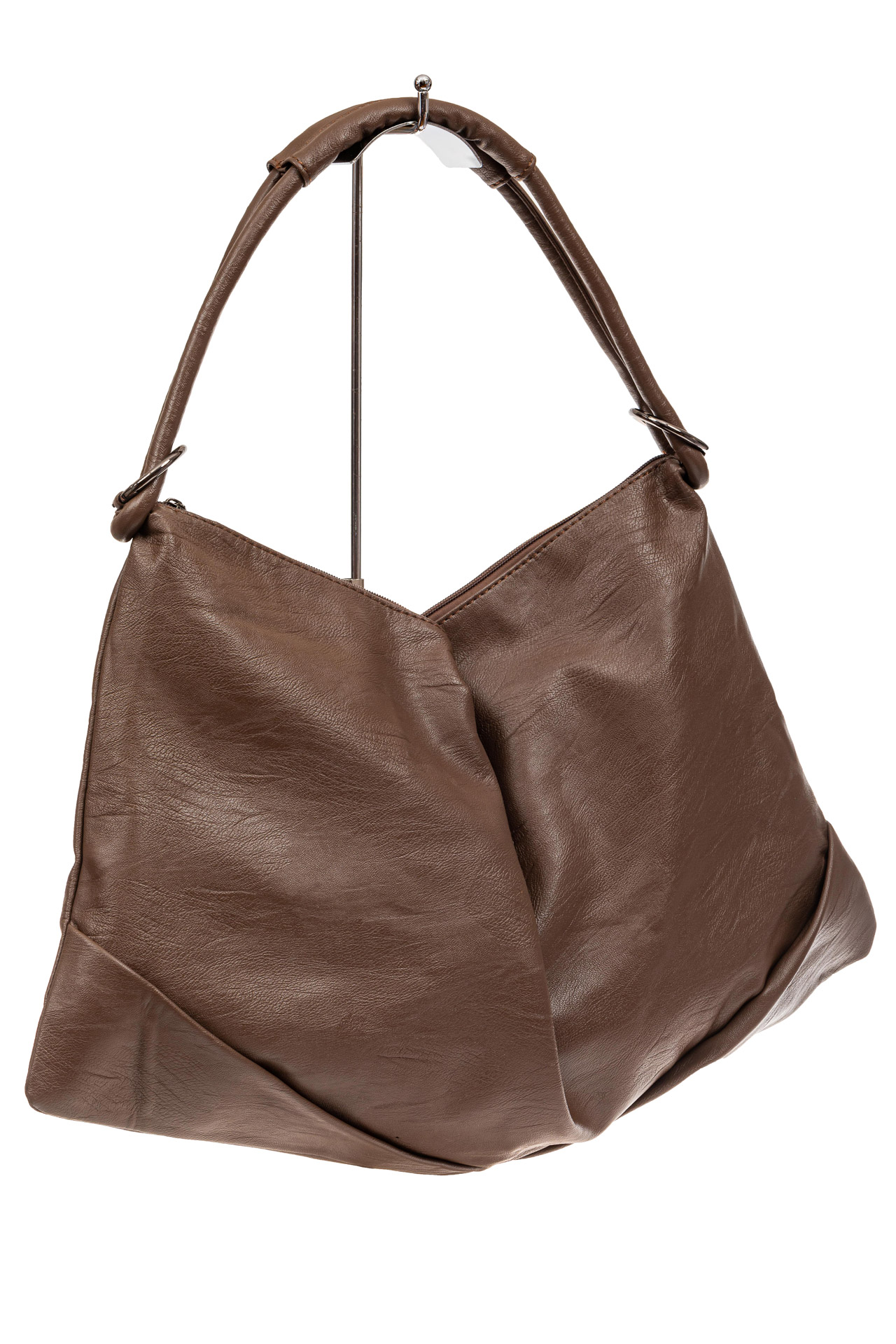 Большая женская сумка из искусственной кожи, цвет коричневыйX206PU1019/8