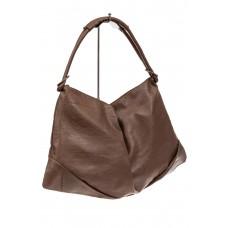 На фото 1 - Большая женская сумка из искусственной кожи, цвет коричневый