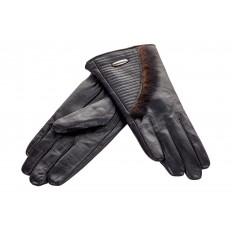 На фото 2 - Комбинированные перчатки из кожи и меха