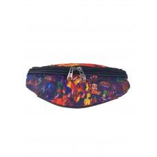 На фото 1 - Сумка детская пояс из текстиля с принтом, мультицвет