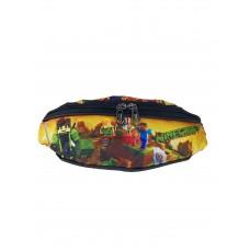 На фото 1 - Детская поясная сумка из текстиля с принтом, мультицвет