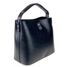 На фото 1 - Летняя женская сумка тоут из экокожи, цвет чёрный