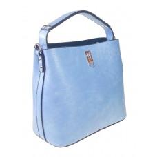На фото 1 - Летняя женская сумка тоут из экокожи, цвет нежно-голубой