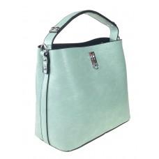 На фото 1 - Летняя женская сумка тоут из экокожи, цвет мятный