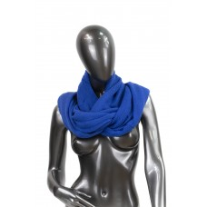 На фото 1 - Снуд из шерсти, цвет синий