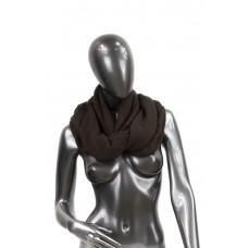 На фото 1 - Снуд из шерсти, цвет тёмно-коричневый
