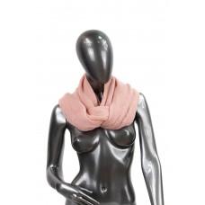 На фото 1 - Снуд из шерсти, цвет розовый