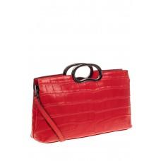 На фото 1 - Женская сумка из натуральной кожи с принтом...