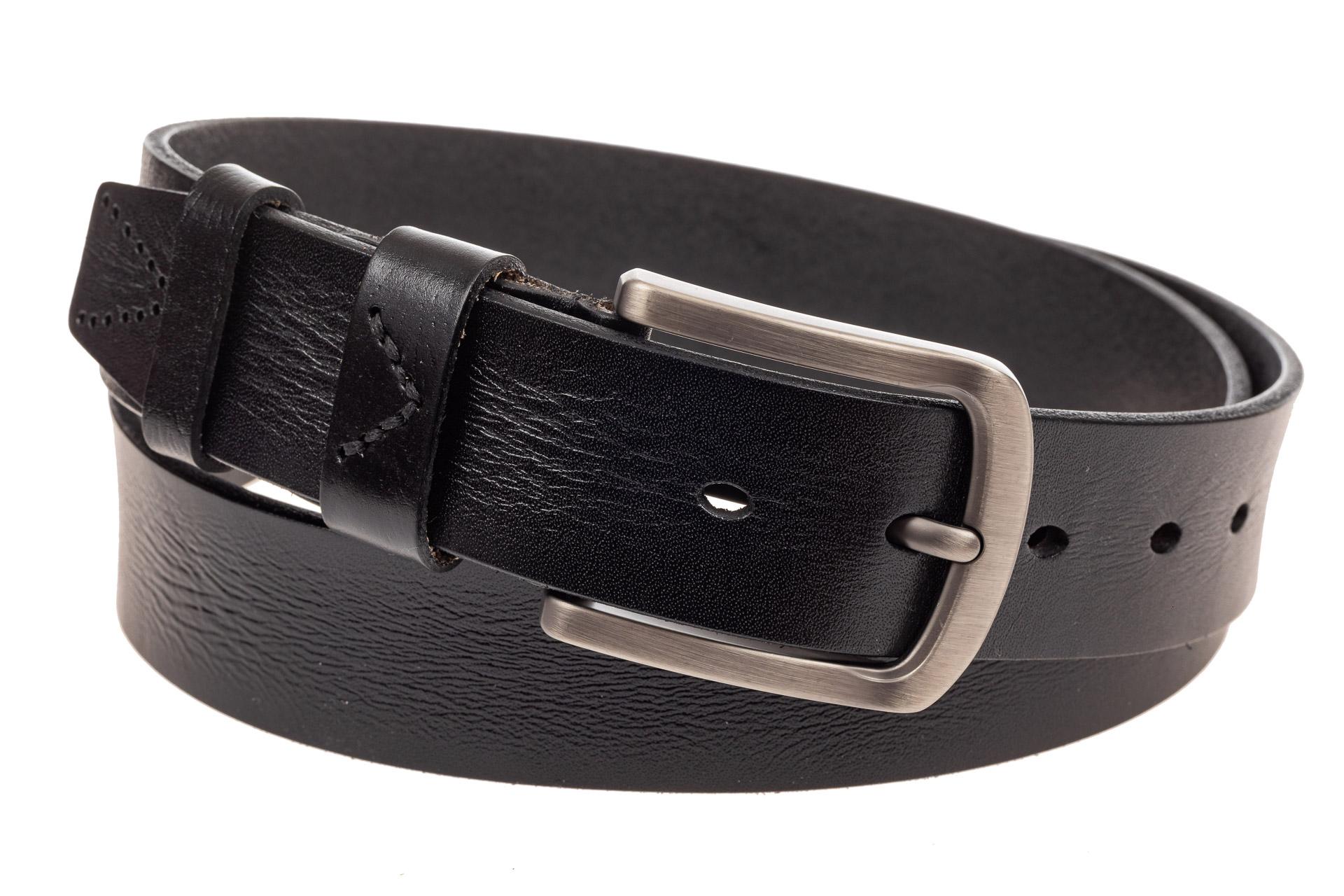 На фото 1 - Кожаный ремень мужской, длина от 115 до 130 см, цвет черный