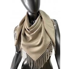 На фото 1 - Мягкий платок из хлопка, цвет бежевый