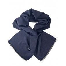 На фото 1 - Однотонный мужской шарф из кашемира, цвет тёмно-синий с серым