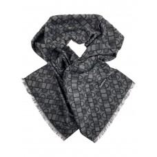 На фото 1 - Шарф мужской из кашемира с геометрическим орнаментом, цвет серый