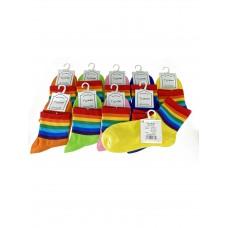 На фото 1 - Молодежные полосатые носки из хлопка, 10 пар