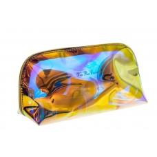 На фото 1 - Пенал косметичка из прозрачного ПВХ с эффектом серебро хамелеон